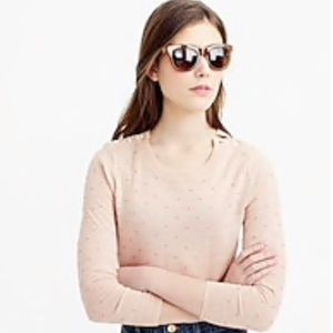 J Crew Polka Dot Tippi Sweater Shoulder Buttons, used for sale